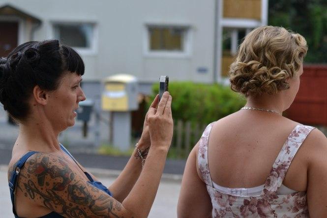 Jessica dokumenterar med iPhonen