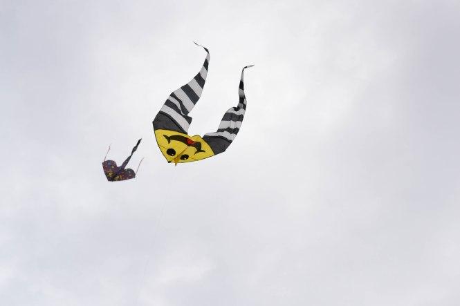 Två drakar flyger